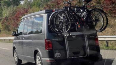 Photo of Heck-Fahrradträger zum Einhängen am Fahrzeugheck im Vergleich